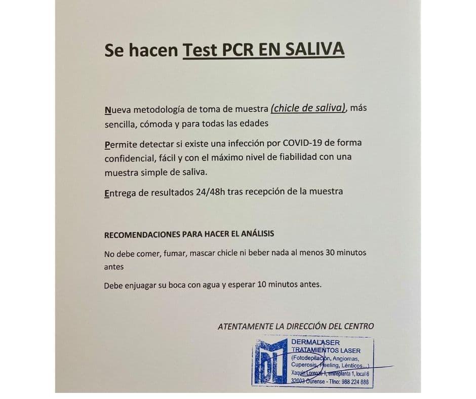 Test PCR en saliva